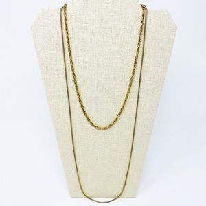 MADEWELL Lisa Chain Choker Necklace Gold Ox